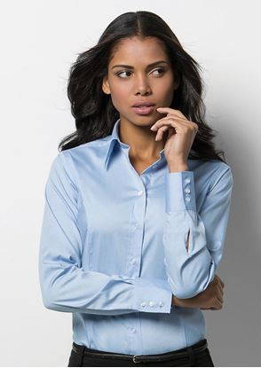Picture of Women's Corporate Oxford Blouse Long Sleeved - KK702