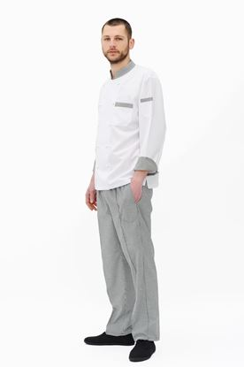 Picture of  Chef's Small Chess Checked Black & White Trouser