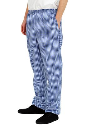 Picture of Chef's Small Chess Checked Blue & White Trouser