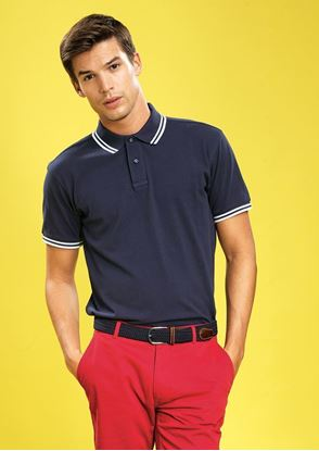 Picture of Men's Classic Fit Tipped Polo Shirt -AQ011- SPECIAL OFFER
