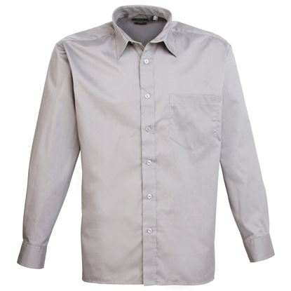 Picture of Men's Long Sleeve Poplin Shirt - PR200
