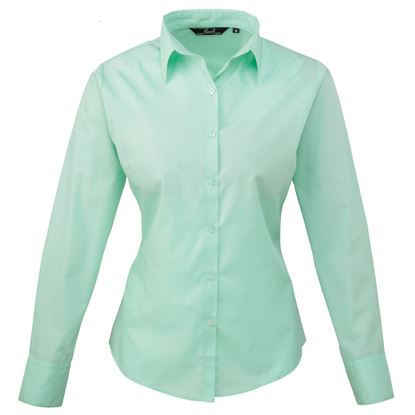 Picture of Women's Long Sleeve Poplin Shirt - PR300