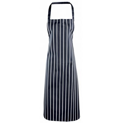 Picture of Stripe Navy / White Bib Apron PR110