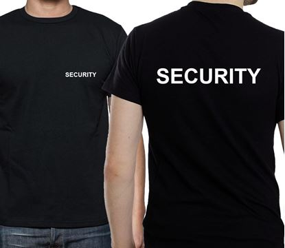 Picture of Security Doorman Bouncer  Bodyguard Black T shirt